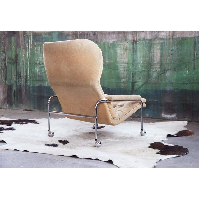 Bruno Mathsson Rare Mid Century Vintage Swedish Lounge Chair by Scapa Rydaholm, 1970s For Sale - Image 4 of 10