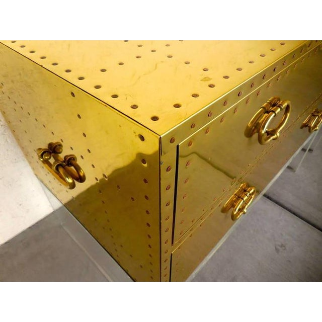 Sarreid Gold Bedside Chest - Image 5 of 6