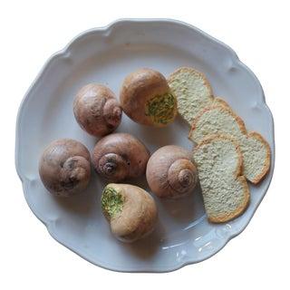 Christine Viennet Trompe l'Oeil Snail Plate For Sale