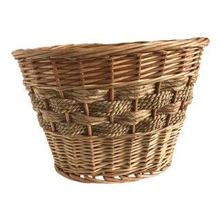 Boho Wood Rope Woven Basket