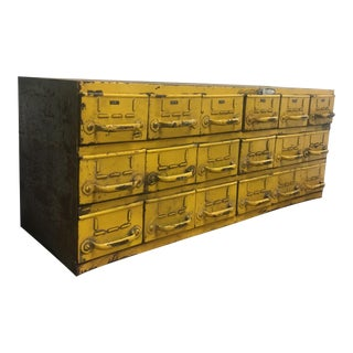 1940s Rustic Equipto Multidrawer Cabinet For Sale