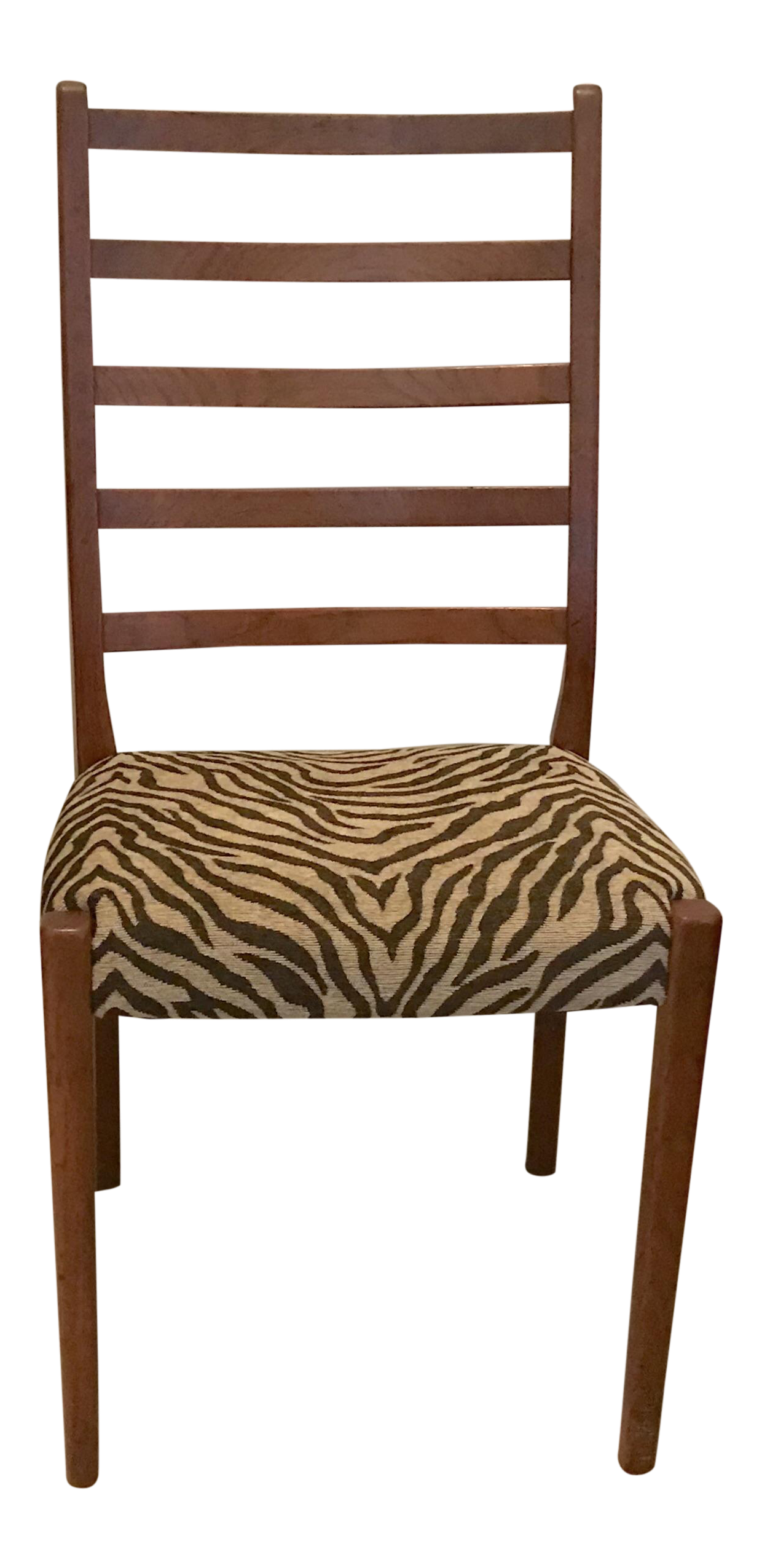 Mid Century Swedish Modern Svegards Markaryd Animal Print Upholstered Side  Chair