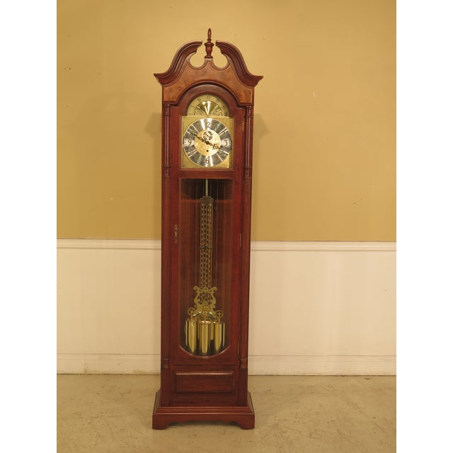 Seth Thomas Cherry Tall Case Grandfather Clock For Sale - Image 11 of 11