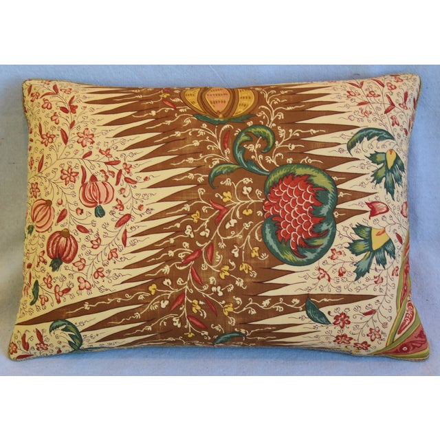 """Custom-tailored pillow in French Pierre Frey cotton fabric called """"La Riviere Enchatee"""" from their Mademoiselle Celestine..."""
