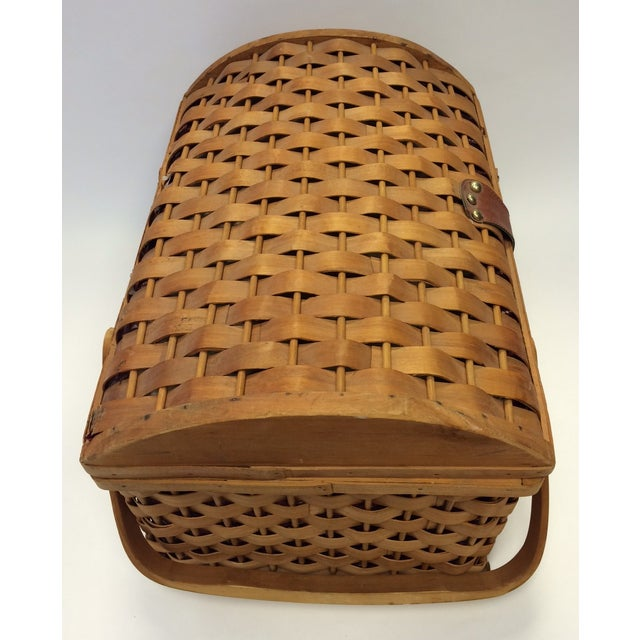 Picnic Basket With Dishware - Image 4 of 6