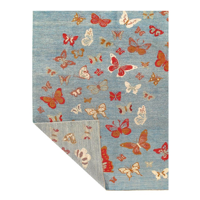 "Modern Pasargad Modern Butterfly Kaleidoscope Rug- 7'5"" X 9'5"" For Sale - Image 3 of 4"