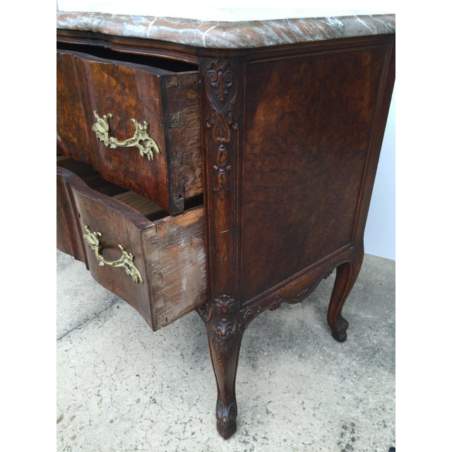 18th C. Continental Burl Walnut Commode - Image 2 of 6
