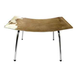 Kehl Brazilian Modern Cowhide Leather Footstool