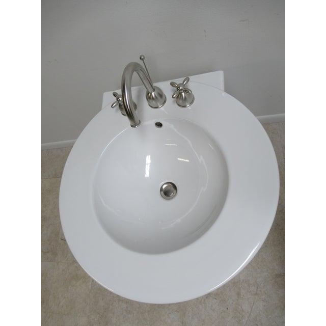 Contemporary Michael Graves Design Duravit Dornbracht Dreamscape Pedestal Bathroom Sink For Sale - Image 3 of 13