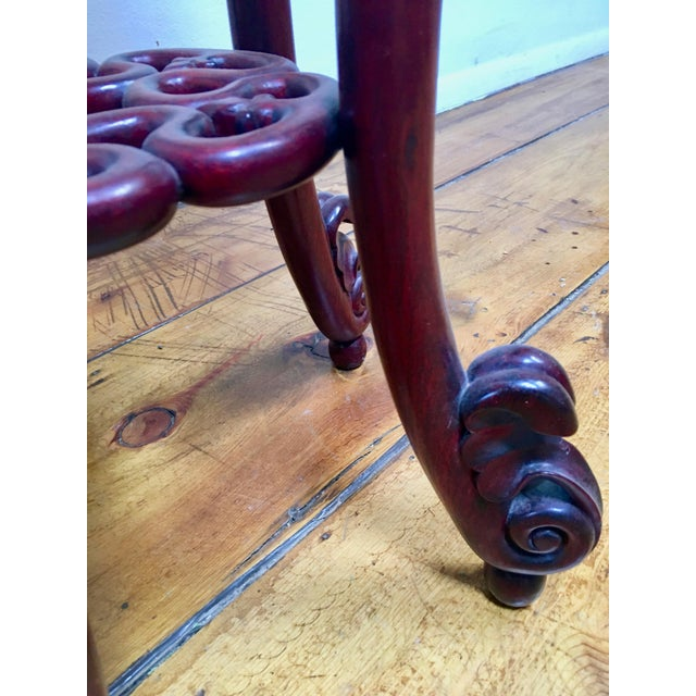 1940s 1940s Chinese Rosewood Pedestal Table For Sale - Image 5 of 7