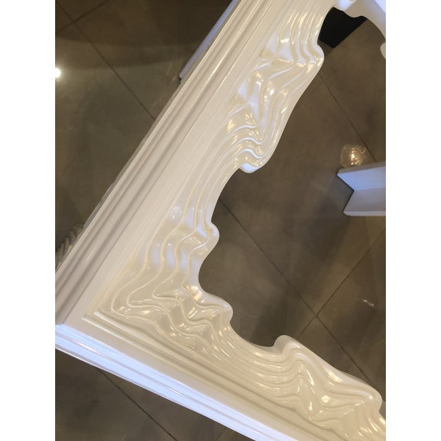 Vintage Modern White Lacquered Wavy End Side Tables -A Pair For Sale In West Palm - Image 6 of 13