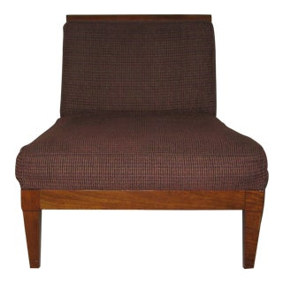 1960's Vintage Baker Brown Slipper Chair For Sale