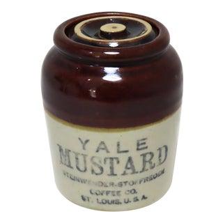 Antique American Stoneware Mustard Jar Circa 1920s For Sale