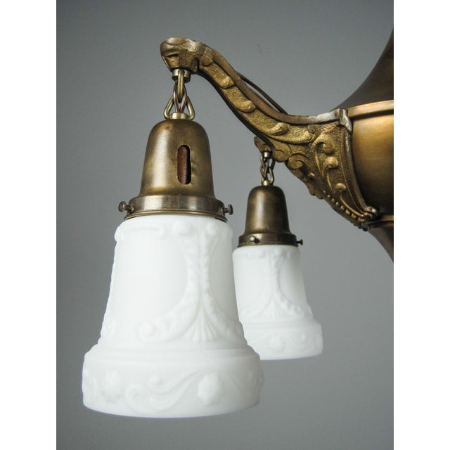 Original Pan Light Fixture (5-Light) For Sale - Image 4 of 8