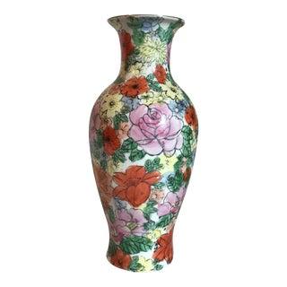 Hand Painted Imari Vase For Sale