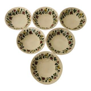 Vintage Johnson Bros Gretchen Set of 6 Dessert/ Fruit Bowls For Sale