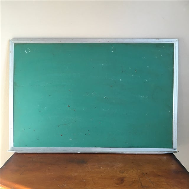 Vintage Green Wall Mounted Chalkboard - Image 2 of 6