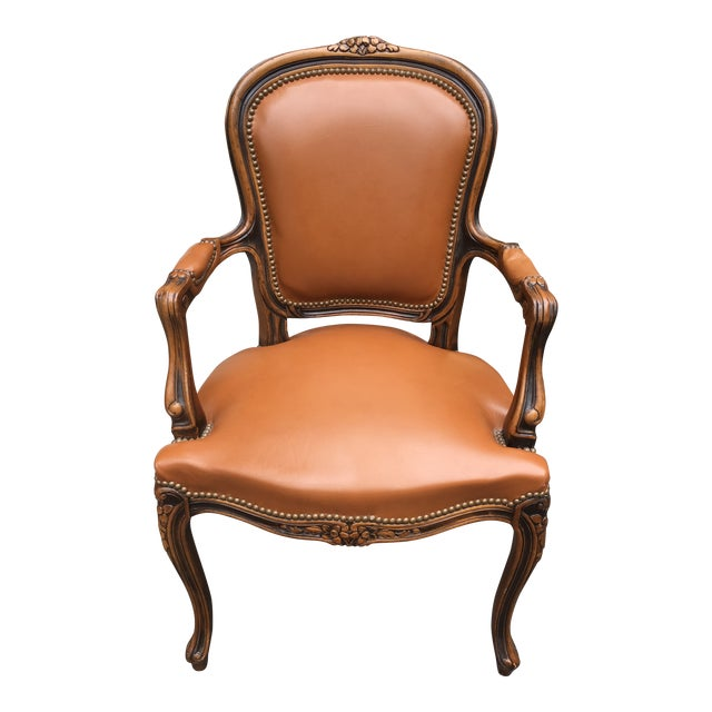 Strange French Style Leather Chair Squirreltailoven Fun Painted Chair Ideas Images Squirreltailovenorg