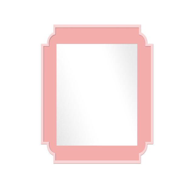 Contemporary Fleur Home x Chairish Camp Mirror in Pink Punch, 24x36 For Sale - Image 3 of 3