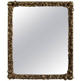 Antique First Finish Gilt High Relief Foliate Form Wall Mirror, 19th Century For Sale