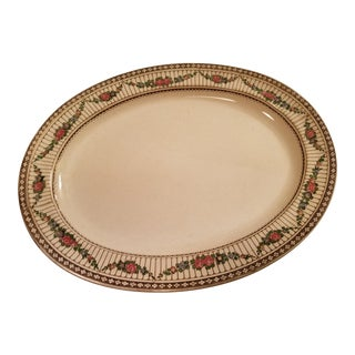 Antique English Stoneware Decorated Large Platter For Sale