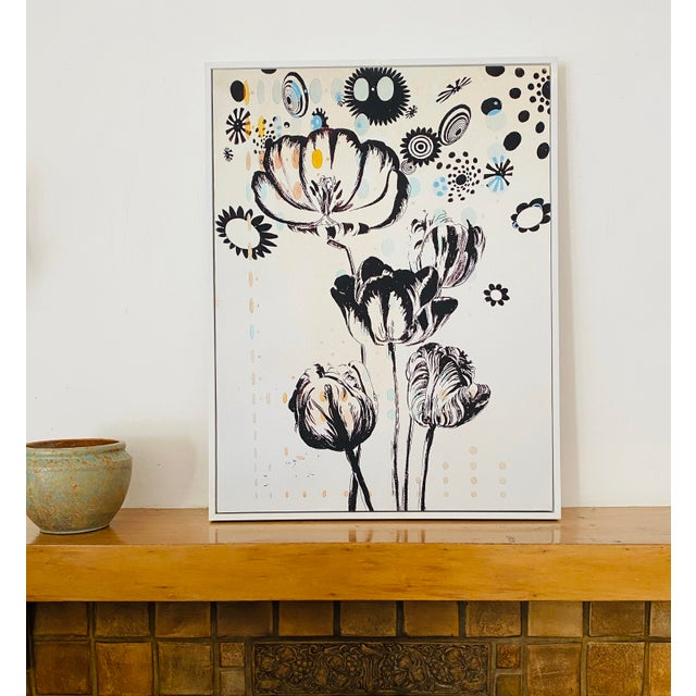 Mid-Century Modern Last Markdown: Tulipiere 220 Framed Fine Art Giclee on Canvas For Sale - Image 3 of 9
