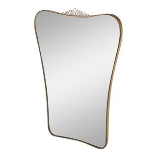 Mid-Century Modern Sculptural Italian Mirror For Sale