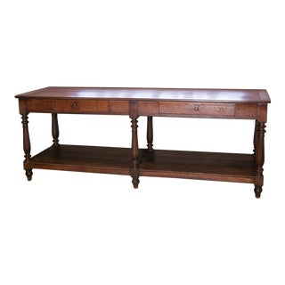 French Oak Drapery Table For Sale