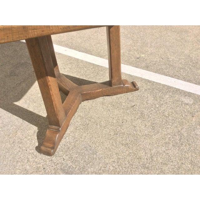 Rustic Oak Center Table For Sale In San Antonio - Image 6 of 10
