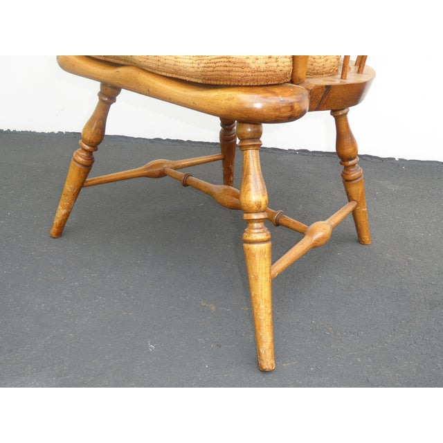 Jean of Topanga Vintage High Banister Windsor Chair Farmhouse Chic For Sale - Image 10 of 11