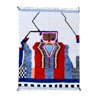 Large Moroccan Vintage Rug ,Multicolor Beni Ourain Rug For Sale