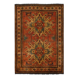 "Pasargad Afghan Kazak Lamb's Wool Rug - 4'6"" X 6' For Sale"