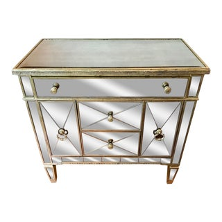 Neiman Marcus Amelie Mirrored Borghese Chest / Buffet For Sale