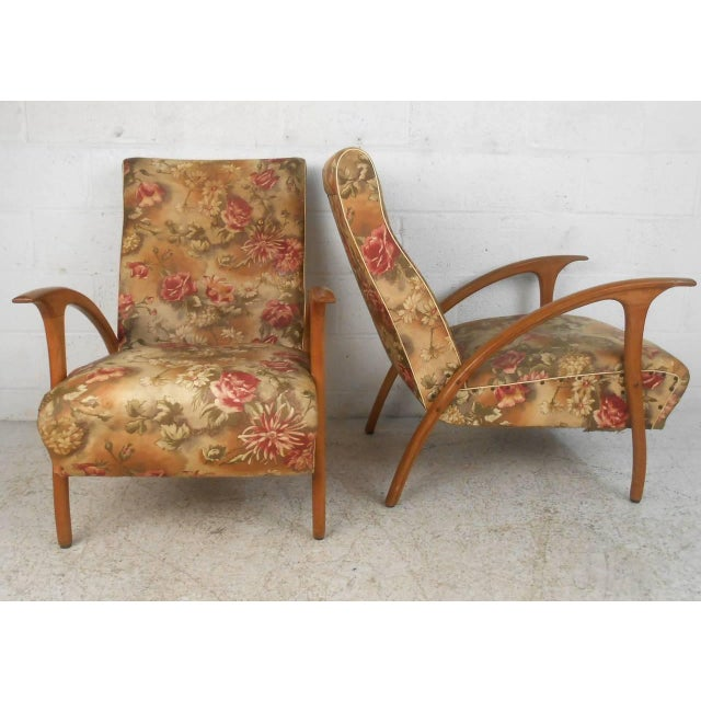 Italian Pair of Paolo Buffa Style Armchairs For Sale - Image 3 of 9