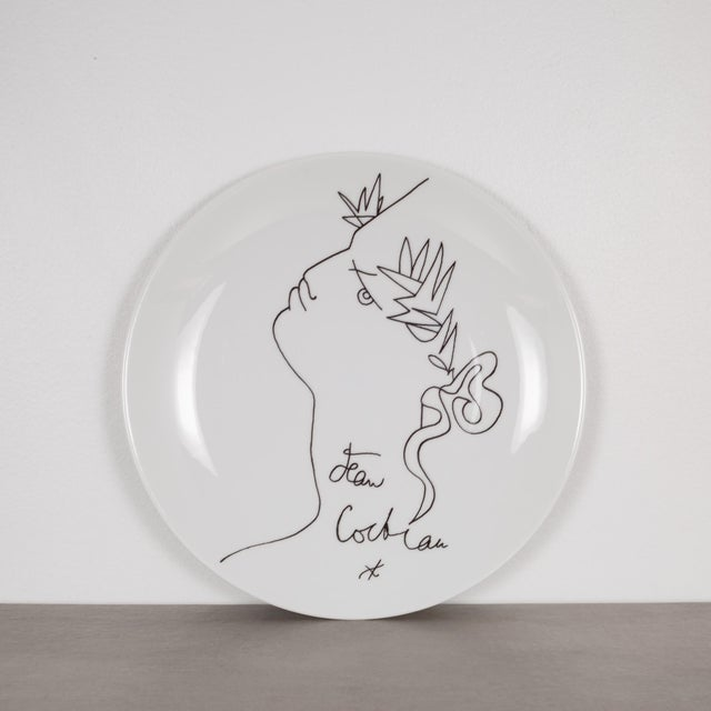 Mid-Century Modern Jean Cocteau Promo-Ceram Midcentury Plates-Set of 2, Circa 1950-1980 For Sale - Image 3 of 5