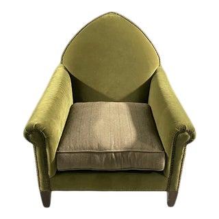 Green Velvet Gothic Chair For Sale