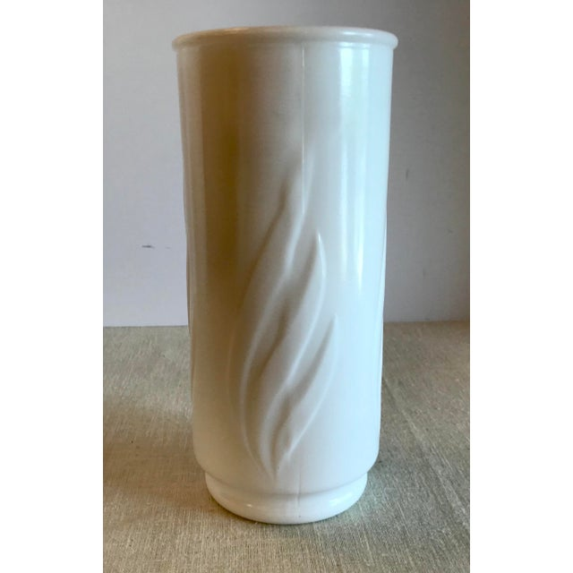 Vintage Milk Glass Vase For Sale - Image 4 of 10