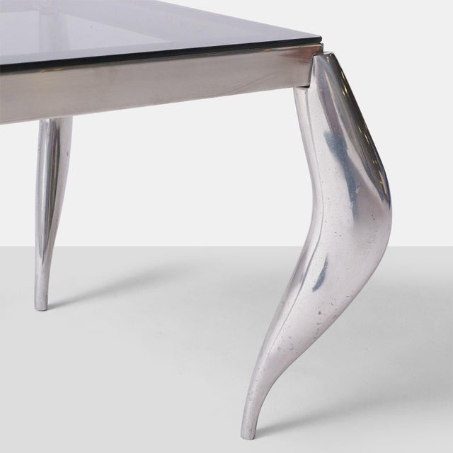 1980s wavy legged end tables in the style of Jordan Mozer - A Pair For Sale - Image 5 of 7