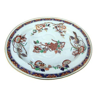 Antique Imari Chinoiserie Copeland Spode Ironstone Meat Platter For Sale