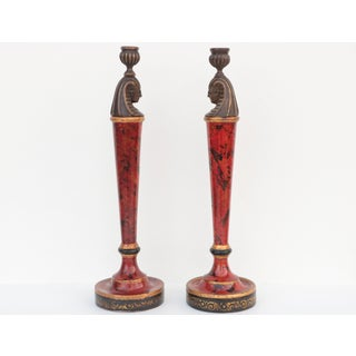 Theodore Alexander Egyptian Candle Holders - a Pair Preview