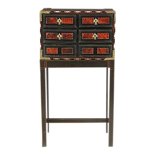 Antique Tortoise Shell-Inlaid Cabinet