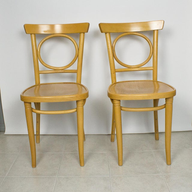 Thonet Radomsko Thonet Bentwood Cafe Chairs - Set of 4 For Sale - Image 4 of 10