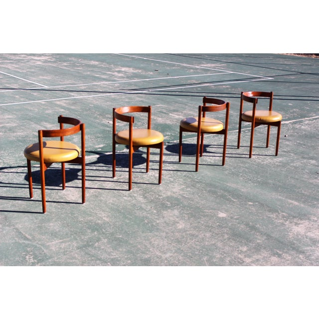 1960s 1950s Scandinavian Modern Hugo Frandsen Dining Chairs - Set of 4 For Sale - Image 5 of 13