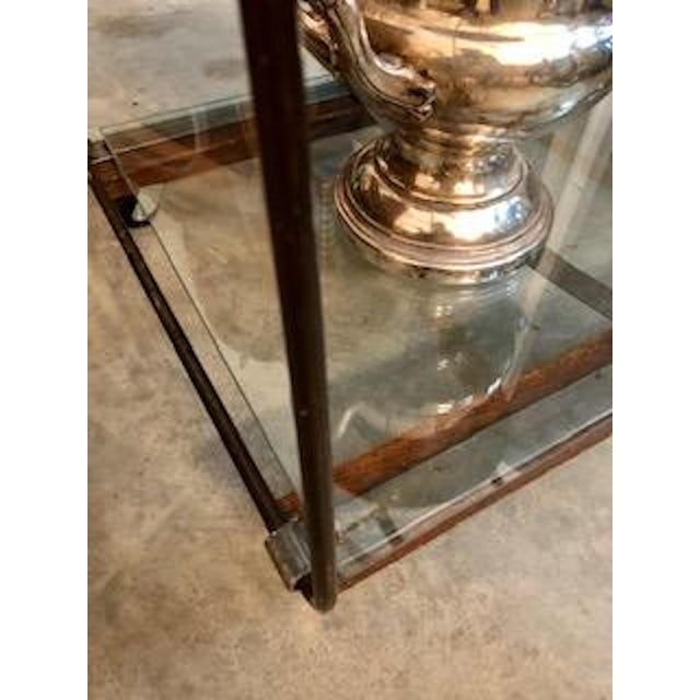 Early 21st Century Industrial Style Metal Console Table For Sale - Image 5 of 8