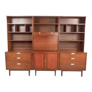 Large Mid-Century Modern Standing Wall Unit by Bassett Furniture