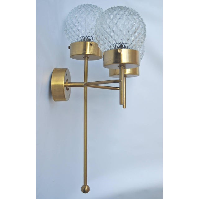 Gold Large and Rare Pair of Wall Lights by Hans-Agne Jakobsson For Sale - Image 8 of 11