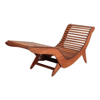Klaus Grabe Plywood 'C5' Chaise Longue with Slats, USA, 1950s