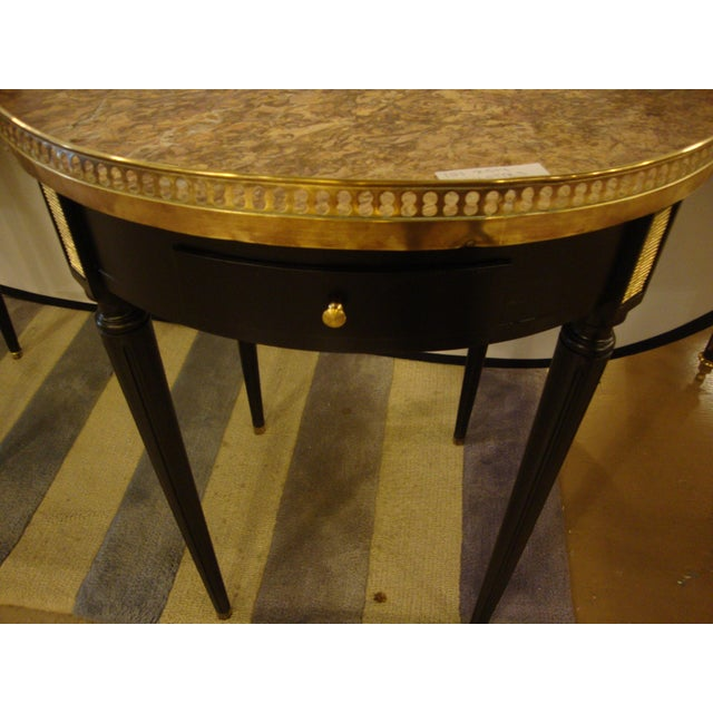 Louis XVI Style Bouillotte End Tables - A Pair For Sale - Image 9 of 11