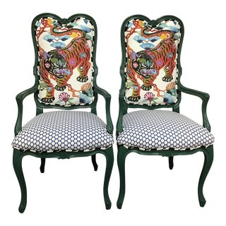 1930s Vintage Painted Frame Chairs - a Pair For Sale