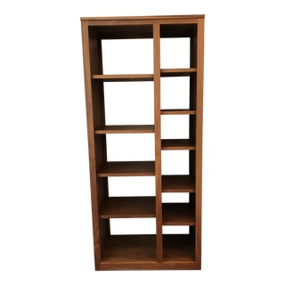 Modern Room and Board Walnut Shelving Unit For Sale